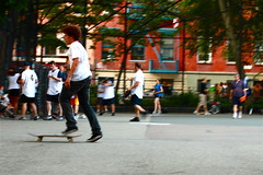 Skateboarder in Tompkins Square Park