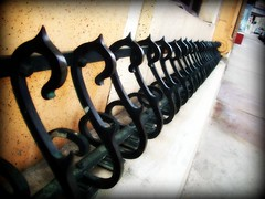 Iron Railing (BlackAndBlueBeauty) Tags: montana iron butte s uptown railing curve