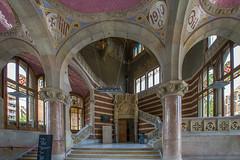 Administration Building Staircase (Glenn Shoemake) Tags: barcelona hospitalsantpau canonef1635f28lii