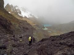 Descending from Trapecio Punta (5020m).