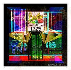 Lucky Art - Bail Bonds 1325 (GAPHIKER) Tags: art texture lasvegas lucky lincolnmemorial bonds bail statenislandferry hss 1325 boldcolors dayglow luckyart happyslidersunday lenabemanna luckybailbonds