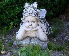 sommerliche Leselust (mayflower31) Tags: lesen stein garten figur