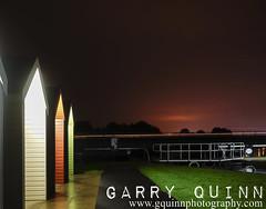 Huts and trails (garry q) Tags: kelpies longexposure night hut colour lighttrail scotland