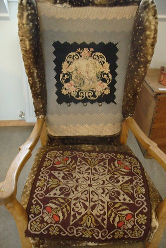 embroidered chair