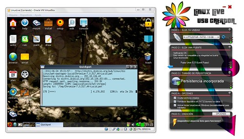 Puppy Linux corriendo en VirtualBox
