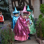 Flora, Fauna and Merryweather come to meet us at L'Auberge de Cendrillon thumbnail