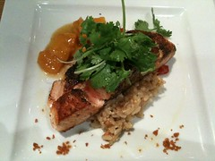 Chai Spice Brûlée Salmon, Food for Thought, Queen Street
