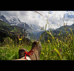 Ja , das ist wirklich genieen .... (*Lie ... off for a while ... !) Tags: mountains schweiz switzerland bergen alpen wengen hdr berneroberland jungfrauregion bergschoenen kantonbern hrlijklekkerrelaxenindealpenweinadeklim