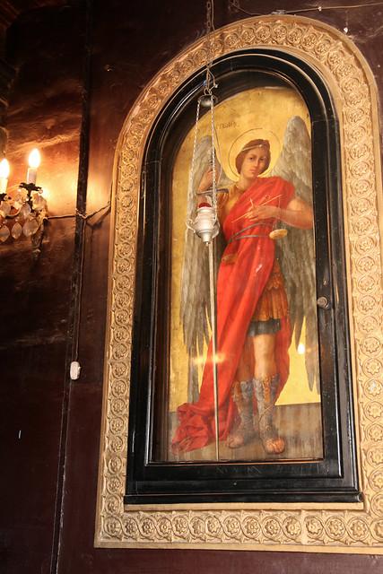 エジプト、オールドカイロ、聖ジョージ修道院の天使