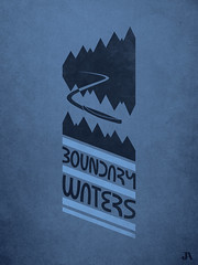 Boundary Waters (Jordan.A.) Tags: blue trees minnesota illustration poster logo design graphicdesign midwest gray canoe illustrator mn boundarywaters bwca adobeillustrator 30daysofcreativity illustratorcs5
