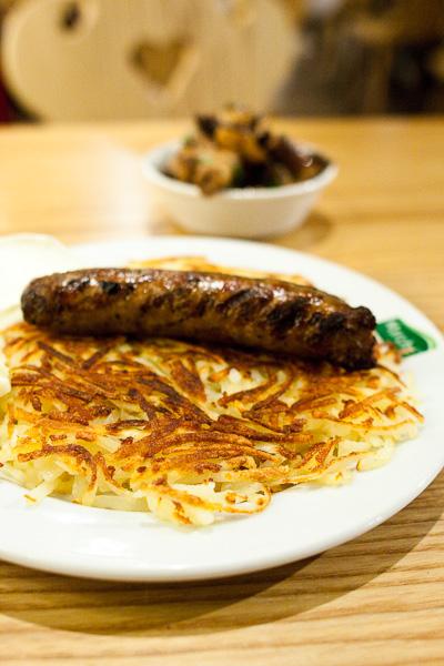 Swiss Rosti with Pork Sausage