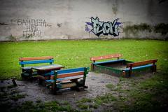 Drohobycz (Mieszko Stanislawski) Tags: street city travel rain playground umbrella graffiti artist graphic polish ukraine hero bandera jew jewish writer schulz ukraina fineartist brunoschulz drohobych drohobycz