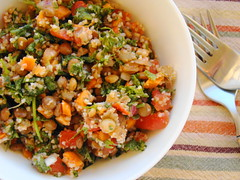 Lentil Tabouli (Vegan Feast Catering) Tags: tomato salad vegan lemon spice carrots onion parsley lentils bulgar