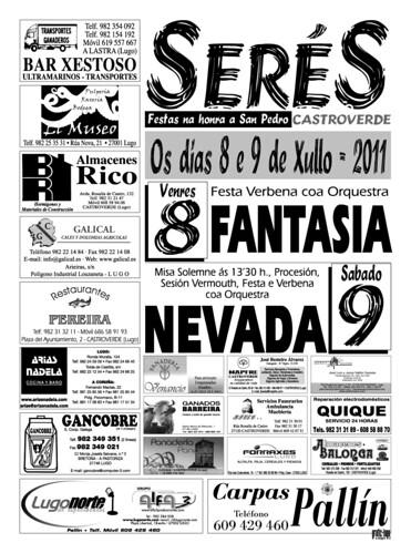 Castroverde 2011 - Festas de San Pedro en Serés - cartel