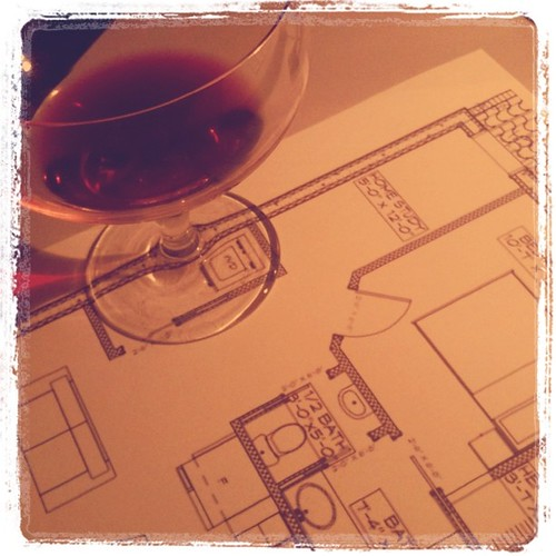 wine and floor plans