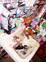 Endless Canvas presents Special Delivery (SKAM sticker) Tags: bathroom stickers installation posters smashed railyard crushed navin eviction specialdelivery comfy galleryshow eyesore slaps chotch skam 2011 wenk notmygovernment endlesscanvas amberprettyhair chuweed