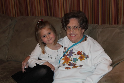 Jenna and Grandma at Christmas