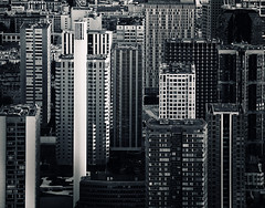 Compressed Architecture (Philipp Klinger Photography) Tags: windows chimney urban bw white black paris france tower church window lines architecture facade photo blackwhite nikon frankreich europa europe pattern tour skyscrapers zoom geometry eiffeltower eiffel toureiffel tele philipp iledefrance compressed klinger d700 eiffeltrum dcdead