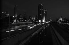highway (amira_a) Tags: longexposure blackandwhite bw night nikon highway wideangle tamron ramatgan d5100