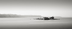 RockPort I (Jeff Gaydash) Tags: longexposure blackandwhite panorama water seascapes michigan greatlakes photomerge lakehuron rockport alpena lakescapes tiltshift