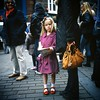 Girl with red shoes at parade. (polarisandy) Tags: carnival film rolleiflex square slide parade analogue mayday redshoes 35f extachrome wwwpolarisandycom
