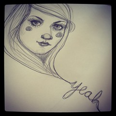 yeah (How To Make Art) Tags: portrait woman art moleskine girl lady pencil sketch artist yeah drawing sketchbook draw