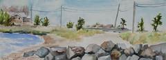 Springs, NY (softfurn Susan) Tags: ny watercolor longisland springs pleinair locationsketch