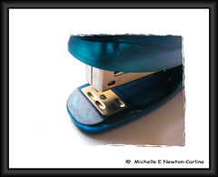 Turquoise Stapler (Mickie Newton-Carline) Tags: blue macro turquoise yorkshire fujifilm fujifinepix southyorkshire fujifilmfinepix womenphotographers macromondays ladyphotographers fujifinepixs5800