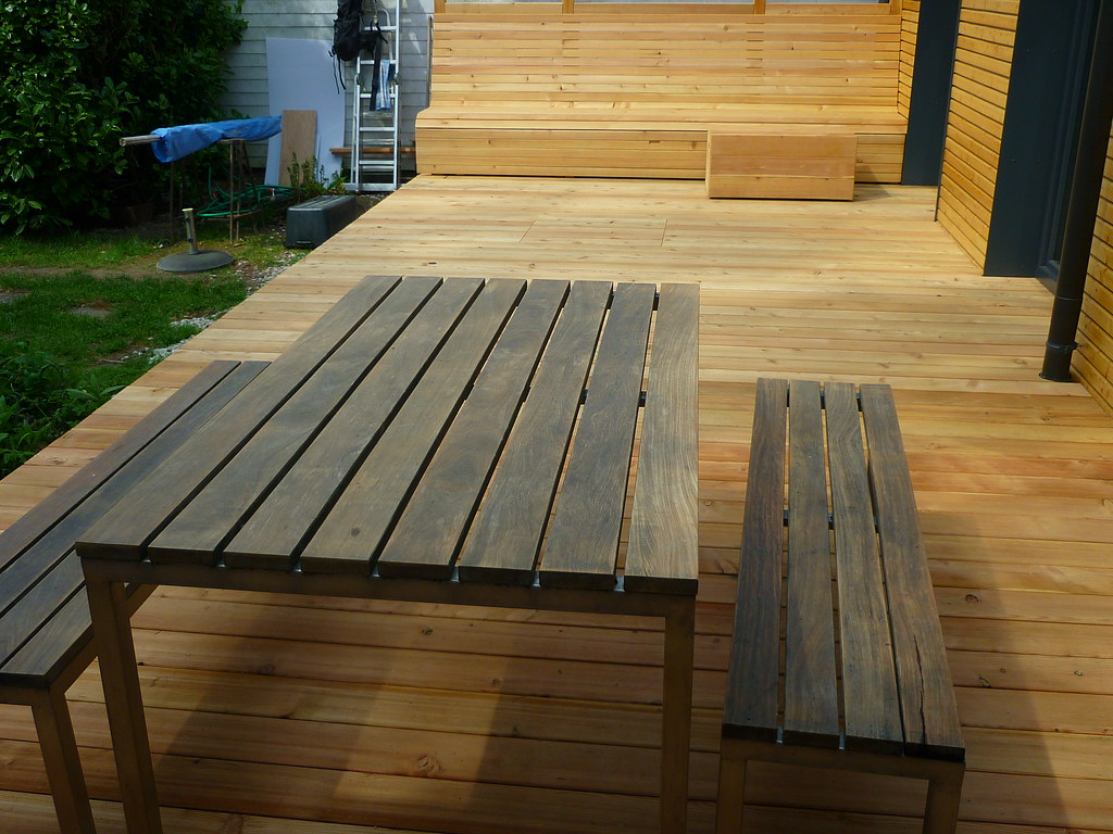 Sitzgruppe (Jörg Paul Kaspari) Tags: Wood Garden Bank Holz Garten Sitzbank  Holzbank Holzterrasse