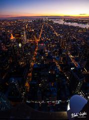 New York City at Nigth (Blaž Vizjak) Tags: nyc sunset newyork manhattan empirestatebuilding empirestate emb