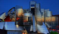 The Frederick R. Weisman Art Museum (Mac H (media601)) Tags: longexposure blue art museum night nacht hour artmuseum nuit frankgehry ricoh ricohgr universityofminnesota nocho
