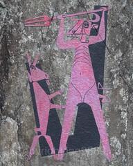 THE RED DEVIL WITH BILLY GOAT Painting (1950) by Heinrich Danioth, Devil's Bridge, Andermatt, Uri, Switzerland (jag9889) Tags: gotthardstrasse jag9889 art andermatt devilsbridge bridge schllenenschlucht archbridge europe switzerland schllenen outdoor 2016 devil flickr artist teufel mural painting teufelsbrcke goat roadbridge river stone 20160815 billygoat heinrichdanioth uri reuss schlucht gorge centralswitzerland