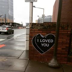 """I Loved You"" (htomren) Tags: phonepics streetart philadelphia gothhearts"