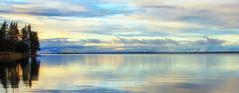 Autumn reflections (Joni Mansikka) Tags: autumn nature lake water lakescape reflections trees clouds sky colours outdoor september pyhäjärvi yläne suomi finland tamronspaf2875mmf28xrdildasphericalif