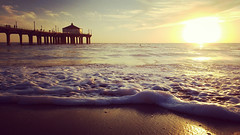 Classic Manhattan Beach (florianpix) Tags: beach ocean sunset water sand sun sea seashore seascape dawn surf evening dusk wave travel sky landscape summer tide california los angeles pacific