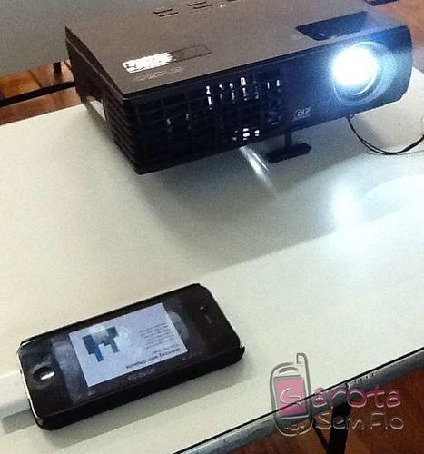 iPhone4 funcionando com datashow