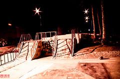 22/52 - Sk8 park (.:shk:.) Tags: longexposure nightphotography graffiti compound ramp palmtrees skate housing skater sk8 akc shk rasgas canoneos500d qatargas shkarim sogirkarim sogskarim alkhorcummunity datepalmpark