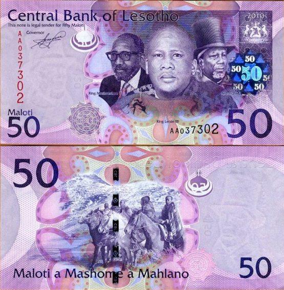 50 Maloti Lesotho 2010