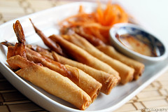 Shrimp Rolls (gtsomething) Tags: food yummy chinesefood tasty delicious springrolls thaifood deepfried shrimprolls gtsomething