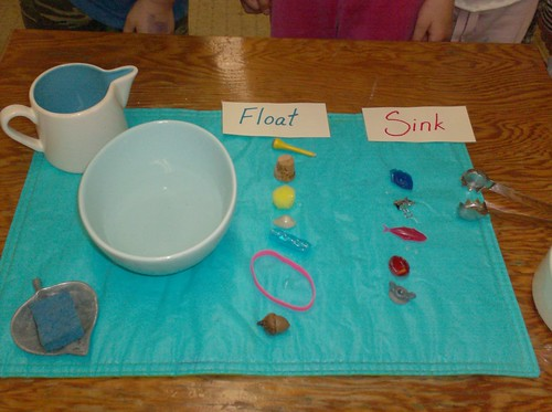 Float and Sink (Photo from The Moveable Alphabet)