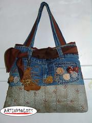 QUERO UMA (Artinmoldes - Atelier Das Mana) Tags: jeans bolsa sacola