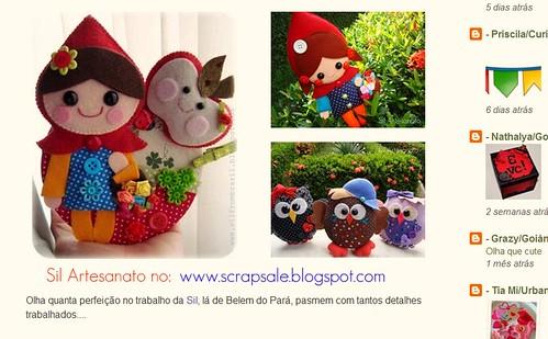 Meus feltrinhos no blog da Grazzy!!! by Sil Artesanato