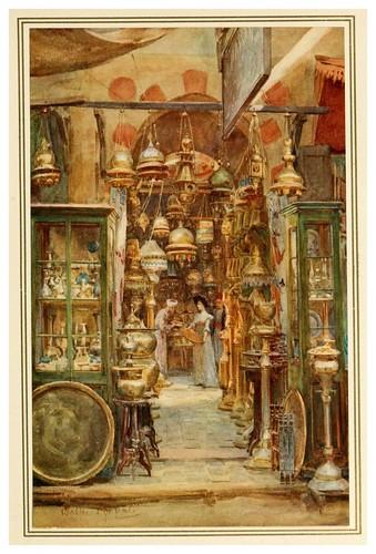 009-La tienda de Nassan-An artist in Egypt (1912)-Walter Tyndale