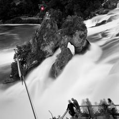 The Rhine Falls / Rheinfall (PhiiiiiiiL) Tags: longexposure bw nature water schweiz switzerland waterfall nikon wasser wasserfall flag natur schaffhausen rheinfall d300 neuhausen nikonflickraward therhinefalls doublyniceshot tripleniceshot mygearandme mygearandmepremium