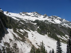 Mount Sefrit looms above Ruth Creek