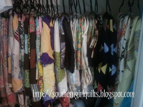 Closet full of Quilt Tops