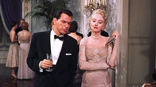 high society Celeste Holm lace dress 50s pink vintage