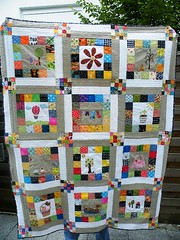 finished!! (monaw2008) Tags: quilt handmade swap block patchwork applique abric monaw monaw2008 eurobeeblock