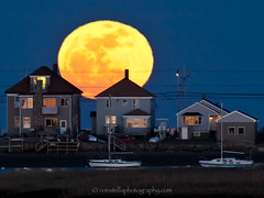 Moonrise (Ron Stella) Tags: moon harbor winthrop massachusetts fullmoon moonrise