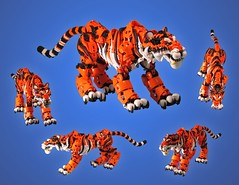 Tiger v2 (retinence) Tags: animal cat feline factory lego stripes tiger stripe technic hero fusion bionicle
